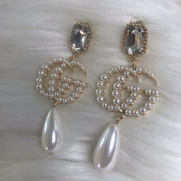 71a887976 Jewelry   Gg Gucci Pearl Earrings   Poshmark